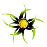 Icono de la pelota de tenis Foto de archivo