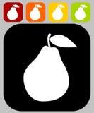 Icono de la pera Fotos de archivo libres de regalías