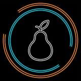 Icono de la pera, ejemplo de la fruta fresca, símbolo orgánico de la naturaleza stock de ilustración