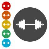 Icono de la pesa de gimnasia Símbolo del deporte de la aptitud libre illustration