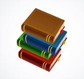 Icono de la pila de libros. Ejemplo del vector Fotografía de archivo