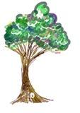 Icono de la pintura del árbol Fotografía de archivo libre de regalías