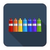 Icono de la pintura en diseño plano de los tubos Imagen de archivo libre de regalías