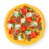 Icono de la pizza Fotografía de archivo libre de regalías
