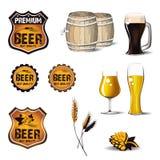 Icono de la pizza de la cerveza ilustración del vector