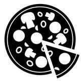 Icono de la pizza del vector Foto de archivo libre de regalías