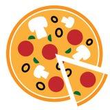 Icono de la pizza del vector Fotos de archivo libres de regalías