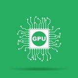 Icono de la placa de circuito Cuadrado del esquema de la tecnología Fotos de archivo libres de regalías