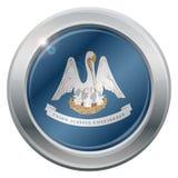 Icono de la plata de la bandera del estado de Luisiana Imagenes de archivo