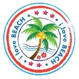 Icono de la playa Fotos de archivo