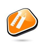 Icono de la pluma y de la regla Imágenes de archivo libres de regalías