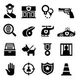 Icono de la policía Fotografía de archivo