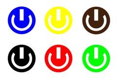 Icono de la potencia Fotos de archivo