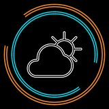 Icono de la previsión metereológica, nubes de las estaciones imagen de archivo