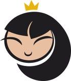 Icono de la princesa de la historieta Fotos de archivo