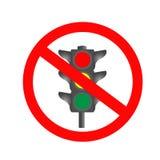Icono de la prohibición del semáforo foto de archivo