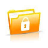 Icono de la protección de datos Imagen de archivo