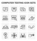 Icono de la prueba del ordenador libre illustration