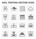 Icono de la prueba del suelo Foto de archivo libre de regalías