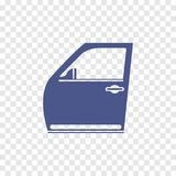 Icono de la puerta de coche Fotografía de archivo