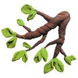 Icono de la rama de árbol del plasticine Foto de archivo libre de regalías