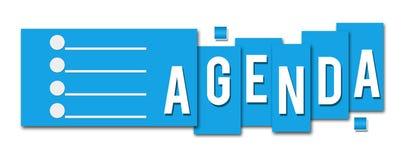 Icono de la raya azul del orden del día Fotos de archivo libres de regalías