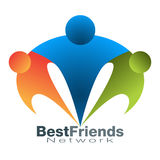 Icono de la red del mejor amigo Foto de archivo libre de regalías