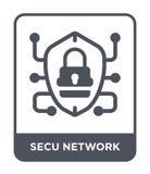 icono de la red del secu en estilo de moda del diseño icono de la red del secu aislado en el fondo blanco icono del vector de la  libre illustration