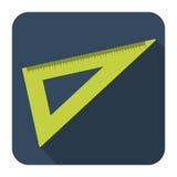 Icono de la regla en diseño plano Foto de archivo