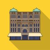 Icono de la reina Victoria Building en estilo plano aislado en el fondo blanco Ejemplo del vector de la acción del símbolo de Aus Foto de archivo libre de regalías