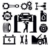 Icono de la reparación del coche Imagen de archivo libre de regalías