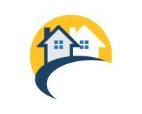 Icono de la residencia de las propiedades inmobiliarias foto de archivo