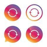 Icono de la rotación Repita el símbolo Restaure la muestra Imágenes de archivo libres de regalías