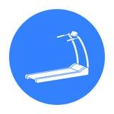 Icono de la rueda de ardilla en estilo negro aislado en el fondo blanco Ejemplo del vector de la acción del símbolo del deporte y Imagen de archivo