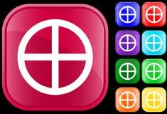 Icono de la rueda de la medicina Fotos de archivo libres de regalías