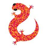 Icono de la salamandra Imagen de archivo libre de regalías