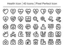 Icono de la salud ilustración del vector