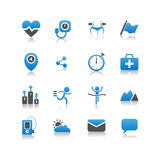 Icono de la salud Fotos de archivo libres de regalías