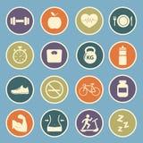 Icono de la salud y de la aptitud Imagen de archivo libre de regalías