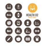 Icono de la salud y de la aptitud Ilustración del vector Fotografía de archivo libre de regalías