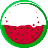 Icono de la sandía Fotografía de archivo libre de regalías