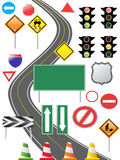 Icono de la señal de tráfico Foto de archivo libre de regalías