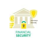Icono de la seguridad financiera libre illustration