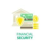 Icono de la seguridad financiera ilustración del vector