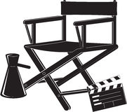 Icono de la silla del director Fotografía de archivo