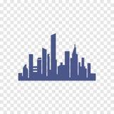 Icono de la silueta de la ciudad Foto de archivo libre de regalías