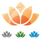 Icono de la silueta de la flor de Lotus  imagenes de archivo
