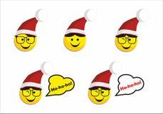 Icono de la sonrisa de Papá Noel Imagen de archivo libre de regalías