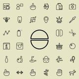 Icono de la tableta Sistema detallado de la línea minimalistic iconos Diseño gráfico superior Uno de los iconos de la colección p stock de ilustración