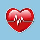 Icono de la tarifa del golpe de corazón Imagen de archivo